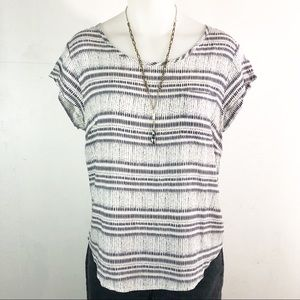 Kenar black and white blouse Sz L